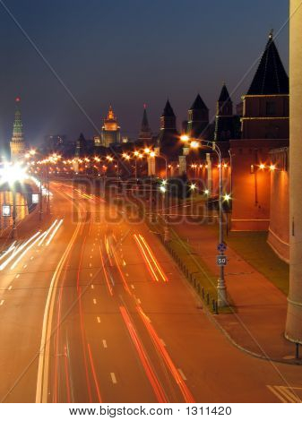 The Walls Of Moscow Kremlin.