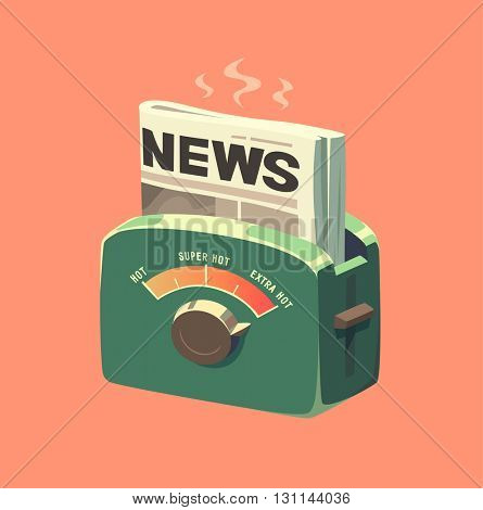 Extra hot news. Concept vector illustration.