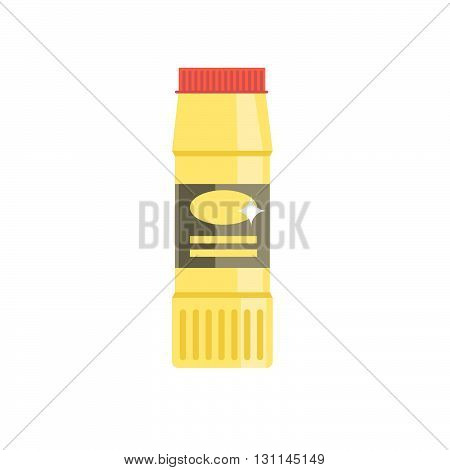 Detergent Bottle Vector Illustration. Flat Cleaning Agent. Plastic Container With Chemical Cleaner.