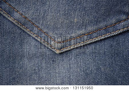 close up shots of old, well worn jeans