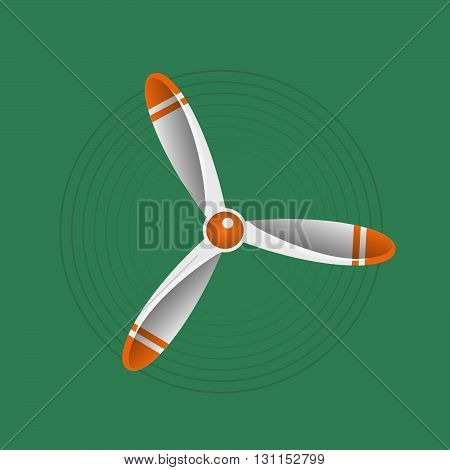 Propeller Vector Illustration. Propeller Aircraft Vector Illustration. Retro Propeller. Vector Prope