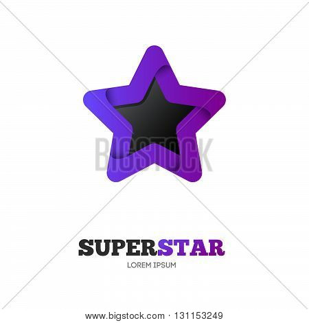 Star Vector Logo Template. Star Emblem. Celebrity Star, Champion, Rating Star. Star Symbol. Starburs