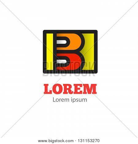Letter B Logo Icon. Letter B Vector Sign. Colorful Design Element.