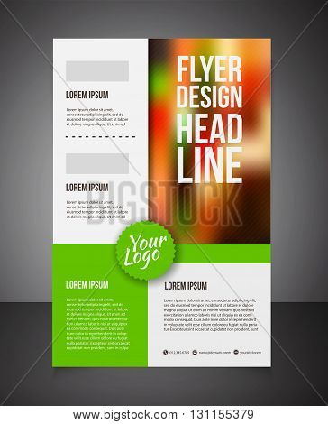 business brochure or offer flyer design template. Brochure design blank print design flyer with text. Flyer template. Business brochure background for print. Front page