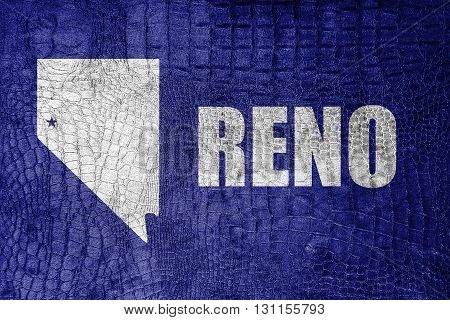 Flag Of Reno, Nevada, On A Luxurious, Fashionable Canvas