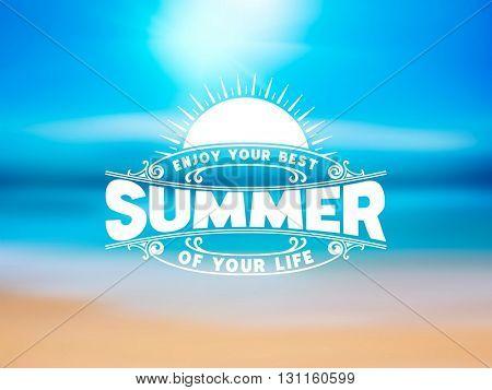 Summer logotype. Design elements. Vector layered
