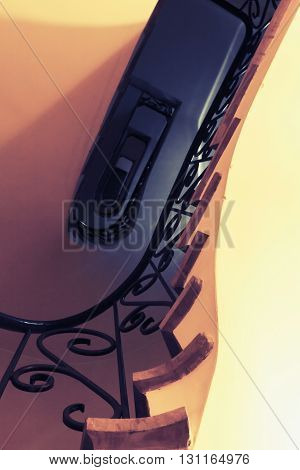 Abstract Vintage Interior Fragment, Stairway Up