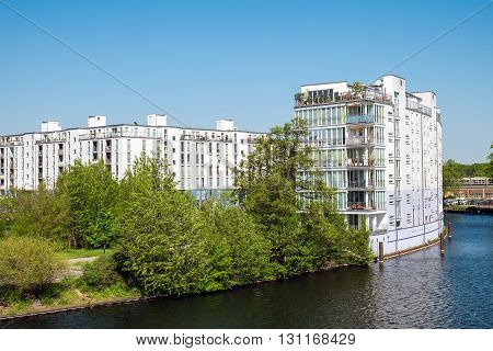 Housing complex at the River Spree in Berlin