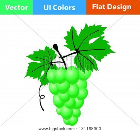 Flat Design Icon Of Grape