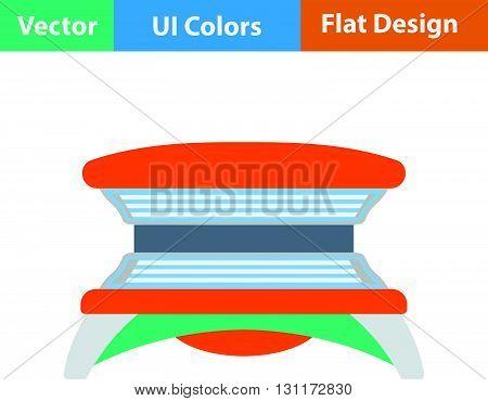 Flat Design Icon Of Solarium