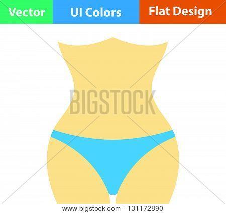 Flat Design Icon Of Slim Waist