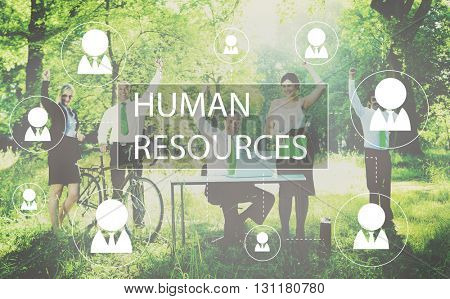 Human Resources Business Profession Graphic Concept