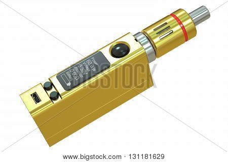 Box Mod e-cigarette 3D rendering isolated on white background