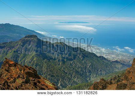 El Hierro view from the La Palma island, Spain