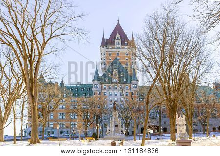 The Chateau Frontenac a famous hotel in Quebec City was opened in 1893.