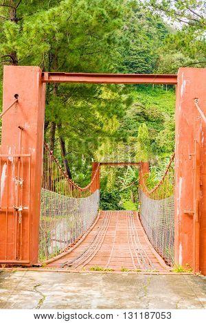 Hanging Bridges Near Boquete In Panama