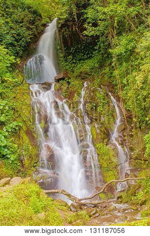 Waterfall In The Mountains Of Panama