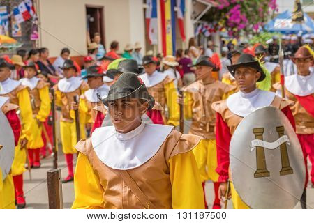 November Parade In La Villa In Panama