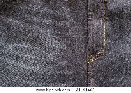 fragment closeup of threadbare trousers from jeans material or jeans clothes with a codpiece for the textile textured background