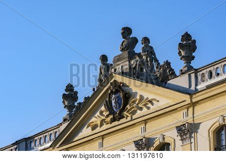 The historic architecture. Palace in Bialystok the historic residence of Polish magnate
