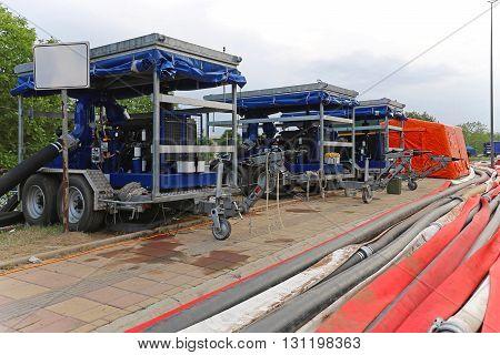 Diesel Powered High Capacity Water Pump For Floods Disaster