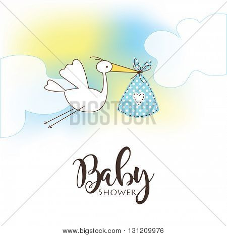 Baby shower card template Greeting card - template - freehand drawing