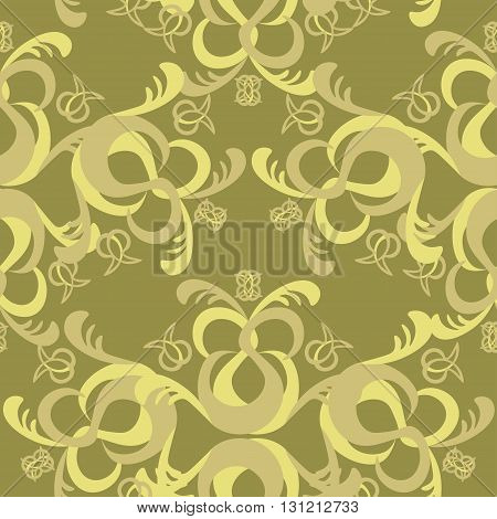 The Solemn Seamless Pattern Brown. Vector Illustration