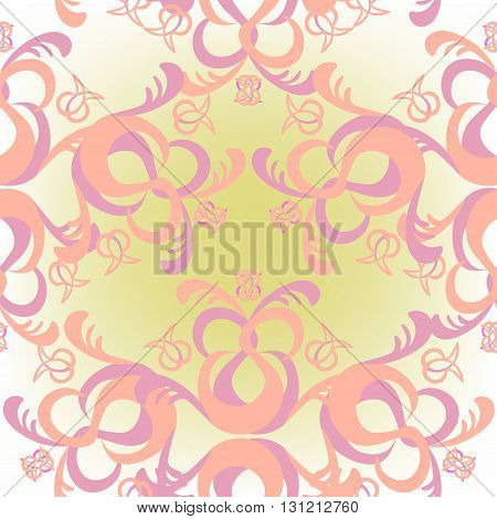 The Solemn Seamless Pattern Of Pink Color. Vector Illustration