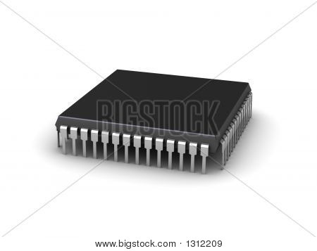Computer Chip (3D Illustration)
