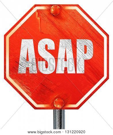 asap, 3D rendering, a red stop sign
