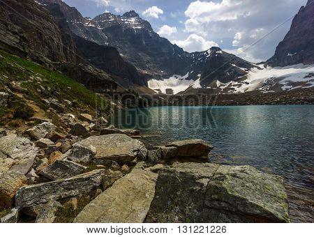 Opabin Lake near Lake O'Hara Canadian Rockies
