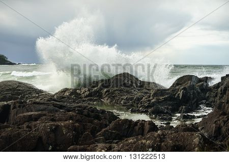 Pettinger Point in Tofino British Columbia on the west coast of Vancouver Island