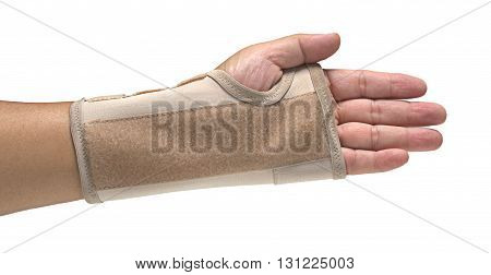 Human's Hand Splint Isolated on white background