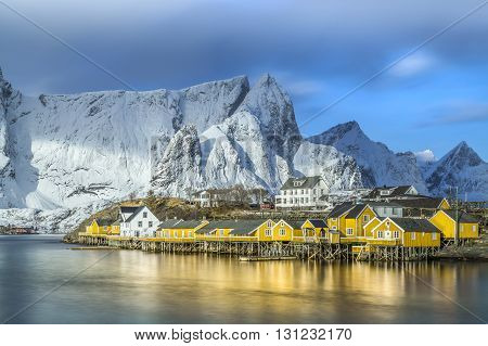 A beautiful Norwegian fishing village in the spring
