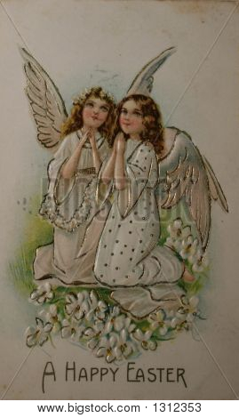 Happy Easter 1909 Postcard