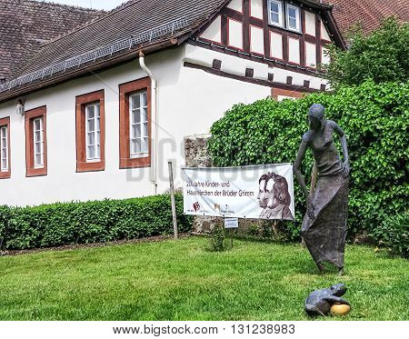 STEINAU AN DER STRASSE, GERMANY-MAY 22, 2016: Birthplace of the Brothers Grimm in Steinau an der Strasse, Hesse, Germany