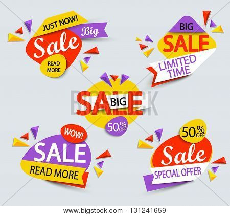 Banner for big sale. Sale and discounts. Vector illustration.