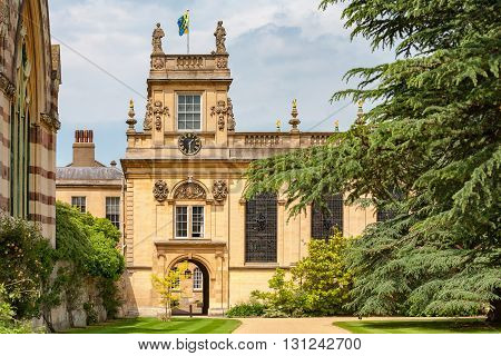 Front Quadrangle of the Trinity College. Oxford University Oxford England UK