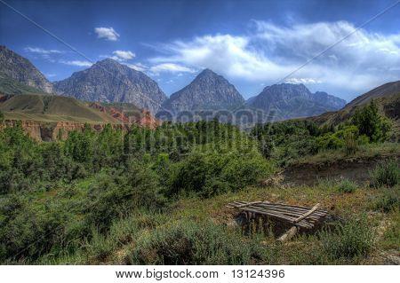 Fantastic landscape. Shot in a mountain.