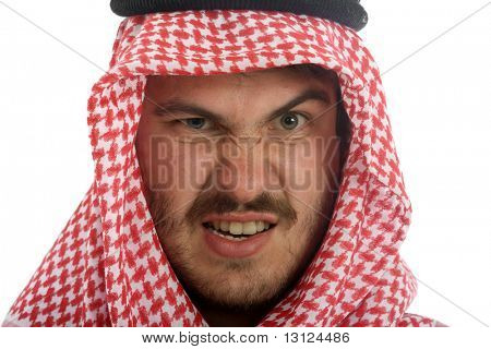 Man wears a keffiyeh