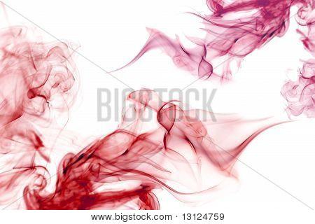 Colorful Red Smoke