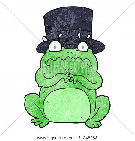 freehand textured cartoon wealthy toad