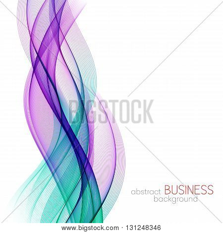 Abstract background, blue and purple transparent waved lines for brochure, website, flyer design. Blue smoke wave. Blue and purple wavy background