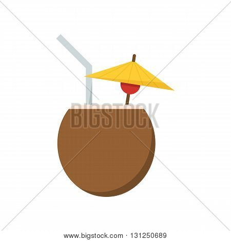 Summer Cocktail Drink Vector Icon