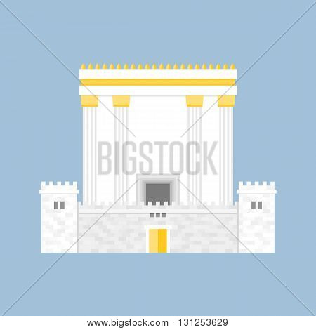 Herod's Temple, flat design on clear background