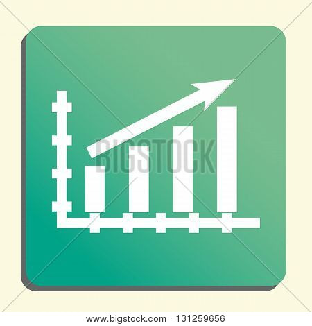 Stats Up Icon In Vector Format. Premium Quality Stats Up Symbol. Web Graphic Stats Up Sign On Green
