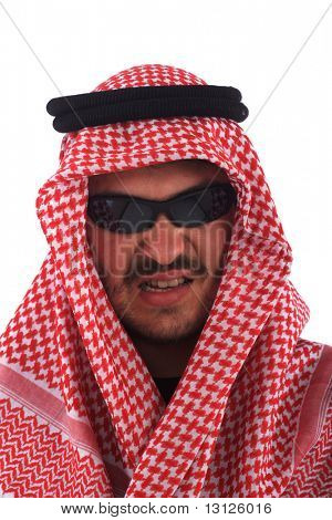 Man With Shades Wears A Keffiyeh