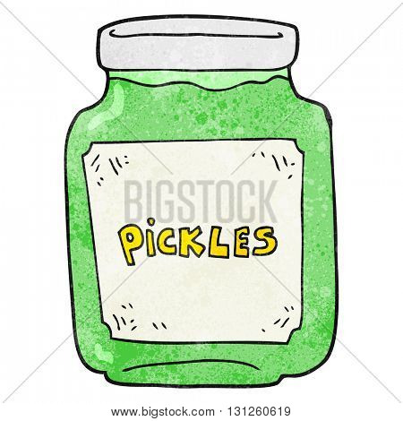 freehand textured cartoon pickle jar