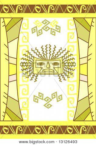 Vector Aztec background. Editable illustration.