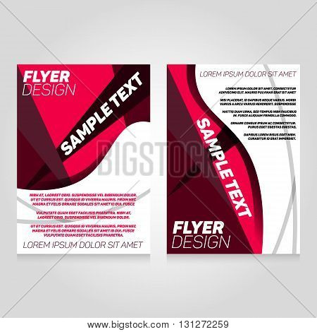 Brochure flier design template. Vector concert poster illustration. Leaflet cover layout in A4 size.